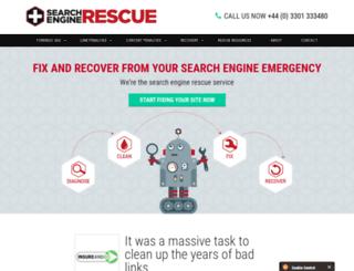 searchenginerescue.co.uk screenshot