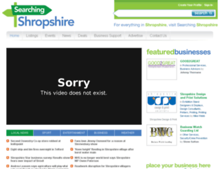 searchingshropshire.com screenshot