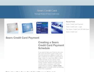 sears-creditcard.com screenshot