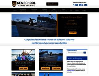seaschool.com.au screenshot