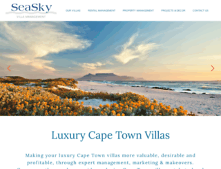 seaskyvillas.com screenshot