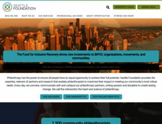 seattlefoundation.org screenshot