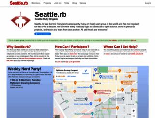 seattlerb.org screenshot