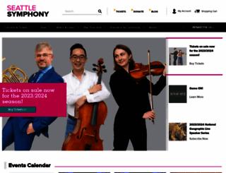 seattlesymphony.org screenshot