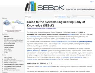 sebokwiki.org screenshot