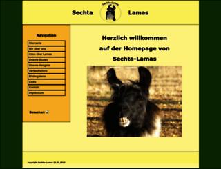 sechta-lamas.de screenshot