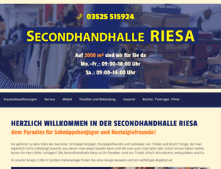 secondhand-halle-riesa.de screenshot