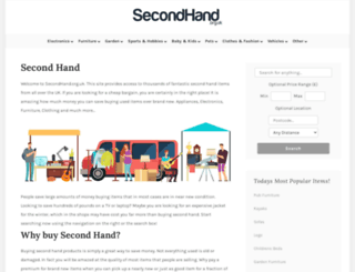 secondhand.org.uk screenshot