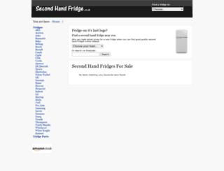 secondhandfridge.co.uk screenshot