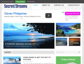 secret2dreams.net screenshot