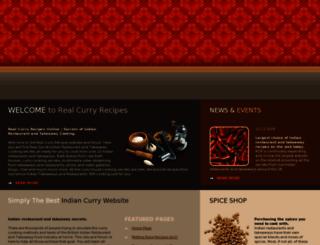 secretcurryrecipes.com screenshot