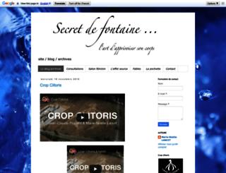 secretdefontaine.blogspot.fr screenshot