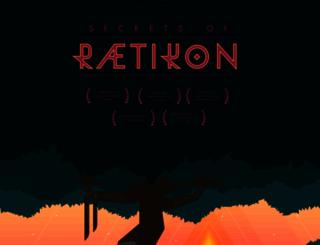 secrets-of-raetikon.com screenshot