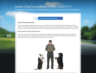 secrets-to-dog-training--review.blogspot.com screenshot