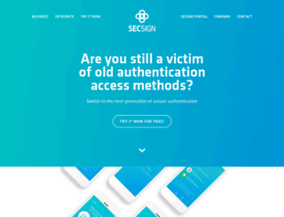 secsign.com screenshot