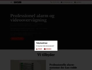 secubi.dk screenshot