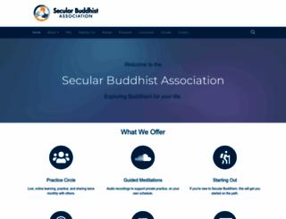 secularbuddhism.org screenshot