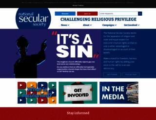 secularism.org.uk screenshot