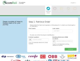 secure.accesrail.com screenshot