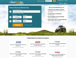 secure.airportrentalcars.com screenshot