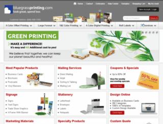 secure.bluegrassprinting.com screenshot