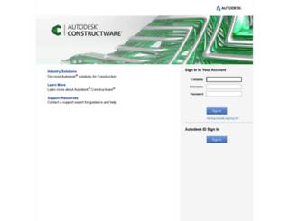 secure.constructware.com screenshot