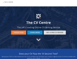 secure.cvcentre.co.uk screenshot