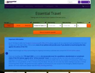 secure.essentialtravel.co.uk screenshot