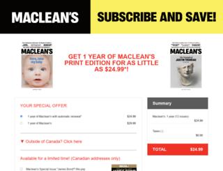secure.macleans.ca screenshot