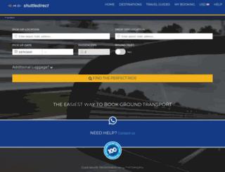 secure.shuttledirect.com screenshot