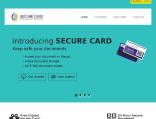 securecards.in screenshot
