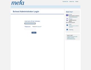 securecertify.mefa.org screenshot