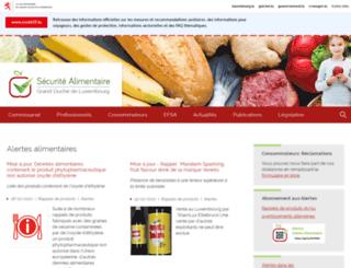 securite-alimentaire.public.lu screenshot