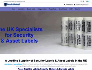 security-label.co.uk screenshot