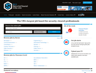 securityclearedjobs.com screenshot