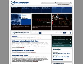 securitycouncilreport.org screenshot