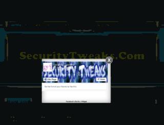 securitytweaks.com screenshot