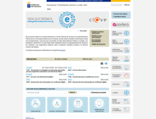 sede.gobcan.es screenshot
