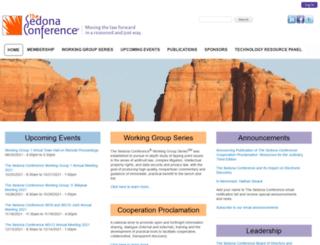 sedonaconference.org screenshot