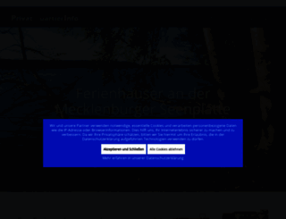 seenplatte.privatquartierinfo.de screenshot