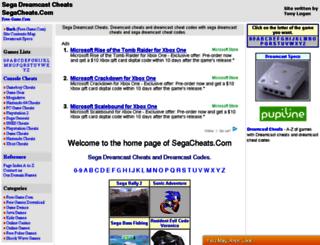 segacheats.com screenshot