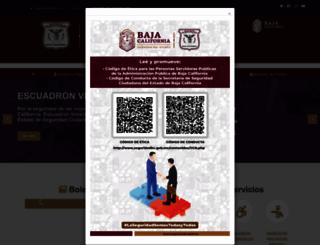 seguridadbc.gob.mx screenshot