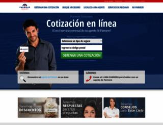 segurosfarmers.com screenshot