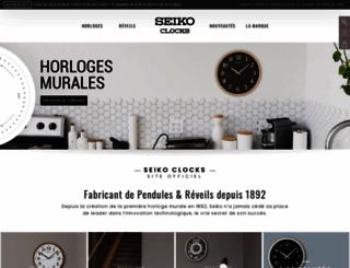 seikoclocks.fr screenshot