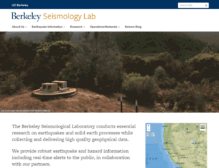 seismo.berkeley.edu screenshot