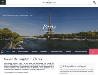 sejour-a-paris.guide-accorhotels.com screenshot