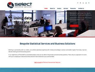 select-statistics.co.uk screenshot