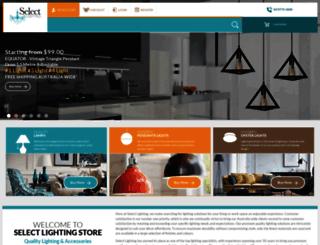 selectlighting.com.au screenshot