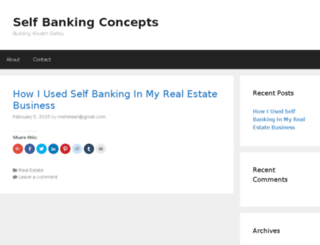 selfbankingconcepts.com screenshot