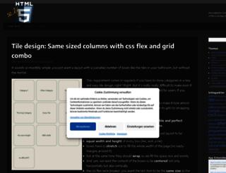selfhtml5.org screenshot